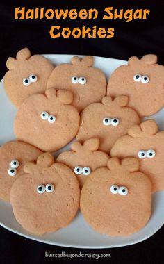 Halloween Sugar Cookies - super easy and super fun to make.