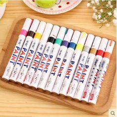 High Quality 13 Colors Permanent Marker Pen Waterproof Metal Art Marker Pen Oil Fill Paint For School Or DIY Tyre Tire Tread Pen