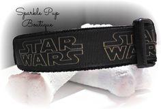 Star Wars Inspired Dog Collar - Adjustable Dog Collar - Nylon Dog Collar - Unisex Dog Collar - Black Dog Collar - Movie Dog Collar- by SparklePupBoutique on Etsy
