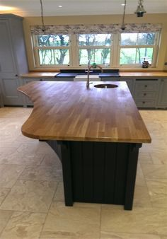 chunky rustic curved kitchen island made in england kitchen cabinets