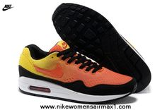 New 2013 Nike Air Max 87 Womens Shoes Orange Black