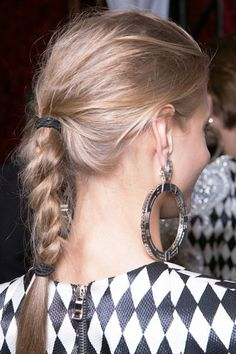 The Most Anticipated Hair Trends For Spring 2013 - Making The Braid - Balmain My Hairstyle, Messy Braids, Braids For Long Hair, Hair Looks, Braided Pony, Twisted Braid, Rope Braid, Easy Braided Hairstyles For Long, Fishtail Braid Hairstyles