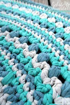Tutorial Teppich Häkeln Aus Stoffresten Upcycling Crochet
