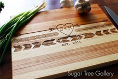 Personalized Aztec Cutting Board  Boho Native by SugarTreeGallery, $43.95 Christmas gift or perfect wedding, anniversary or bridal shower gift ideas!