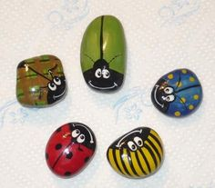 Pebble Painting, Love Painting, Pebble Art, Painted Rocks, Hand Painted, Pet Rocks, Sticks And Stones, Bugs And Insects, Love Craft