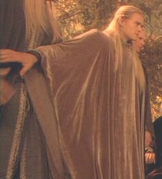 """I just love how Legolas is upset as well,but he doesn't want there to be violence errupting from such a peaceful place.When he restraint an Elf older than him,usually that would be the older's elf's """"duty"""" to restrain Legolas,but from his own past experiences of being a foolish elfling,he used his own wisdom against violence.Which makes me think Thranduil taught him that lesson when he was about 4 or 5 years old in human years and he knows of the consequences if he didn't restrain the Elf."""