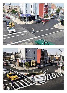 People-friendly transformation of Humboldt St, Williamsburg, Brooklyn. Click image to tweet, and visit the slowottawa.ca boards >> https://www.pinterest.com/slowottawa/boards/
