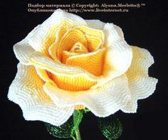 Д.Чиоти и её цветы из бисера ... создаем розу