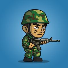 Frontier army guy character sprite is great for side scrolling shooter games (metal slug-like). Buy and sell game assets. 2d Character, Character Drawing, Soldier Drawing, Army Men, Game Assets, Cool Drawings, Game Art, Avatar, Rocks
