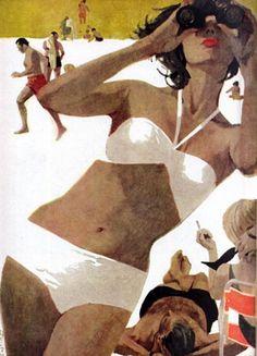 'Gloria In Nice' by Bernie Fuchs 1960s.