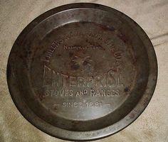 Vintage Phillips  Buttorff MFG METAL Flue Cover / Pie Tin