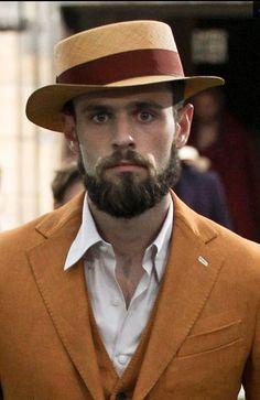 SPRING 2014 MENSWEAR Berluti Mens Fashion, Fashion Hats, Street Fashion, Pork Pie Hat, Flat Cap, Good Looking Men, Perfect Man, Spring 2014, Hats For Men