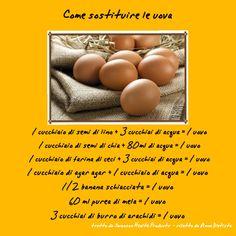 Se sei allergico alle uova puoi sostituirle utilizzando questa tabella :)