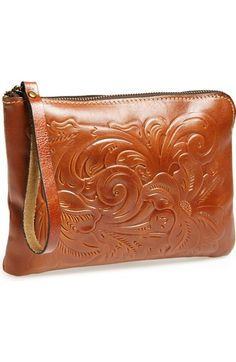 "Patricia Nash ""Tooled Cassini"" leather wristlet - via Nordstrom"