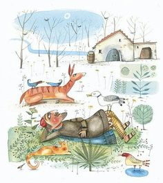 Diane de Beer talks to illustrators Piet Grobler and Rosalind Stockhall Children's Book Illustration, Watercolor Illustration, Photo Texture, Paper Cutting, Cut Paper, Freelance Illustrator, Childrens Books, Whimsical, Folk