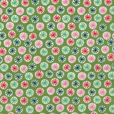Holiday Ditzy CX4013 Lime from the Funky Christmas by hootcouture, $8.27