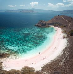 Pink Beach Komodo Island is a pink sand beach that's a serious contender for one of the most beautiful beaches in the world. Beach Wallpaper, Travel Wallpaper, Komodo National Park, National Parks, Komodo Island, Pink Sand Beach, Hiking Guide, Epic Photos, Beaches In The World