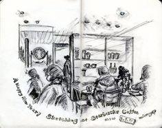 sketching at Starbucks Coffee #moleskine
