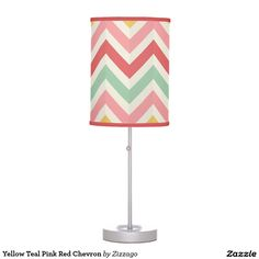 Illuminate your home with Yellow lamps from Zazzle. Find the right lamp for you today! Red Chevron, Yellow Table, Teal And Pink, Pendant Lamp, Desk Lamp, Clocks, Canvas Art, Pillows