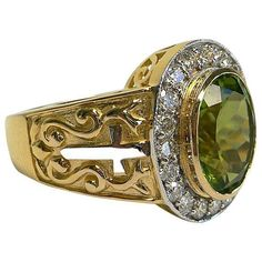 This superior Christian Peridot Ring blends royal style, luxury of gold plating, and allure of precious peridot stone. This piece will definitely set you apart Gold And Silver Rings, Silver Man, Silver Diamonds, Yellow Gold Rings, Sterling Silver Rings, Silver Jewelry, Yellow Diamonds, Pink Sapphire, Bishop Ring
