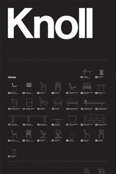 Knoll Furniture Profiles. Poster Design.