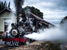 This steam train connects Tiradientes with Sao Joao del Rei, both are beautifully preserved 18th century gold mining cities in Minas Gerais, inland Brazil. The train is fully operational and runs daily.  #steamtrain #steampower #unesco #minas #brazil #brasil