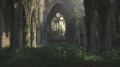 Derelict Gothic Abbey, Jorge Carlos Gonzalez on ArtStation at http://www.artstation.com/artwork/derelict-gothic-abbey