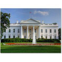 Trademark Fine Art White House Canvas Art by CATeyes, Size: 16 x 24