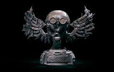 Oakley, Lion Sculpture, Skull, Statue, Logos, Wallpaper, Image, Silver, Art