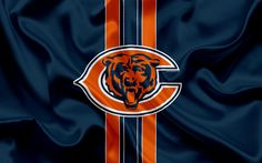 Download wallpapers Chicago Bears, American football, logo, emblem, NFL, National Football League, Chicago, USA, National Football Conference