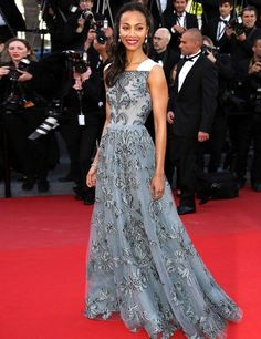 The Cannes Film Festival 2013 | ELLE UK Zoe Saldana in Valentino