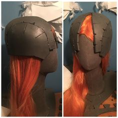 It's the perfect fit!!! I left the front open because I will cut out the foam and replace it with a visor so I can see... #angemon #angemoncosplay #digimon #digimonworld #digimoncosplay #digimonadventure #wig #anime #animecosplay #animelover #helmet #cosplay #cosplaywip #cosplayprogress #katsucon2016 #comiccon