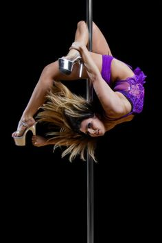 Adrienne Strauss BeSpun Pole Dancing Studio. - almost have this move. Just can't quite grab my bottom ankle yet.