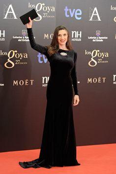 Ángela Molina Premios Goya. Vestido: Lorenzo Caprile
