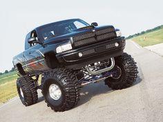 nice Black Lifted Dodge Ram Truck