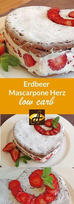 Perfekt für Muttertag oder einfach nur so! Ein kleines Erdbeer-Mascarpone-Herz für Deine Liebsten! Mit der Silikonform von Lurch geht das super leicht!