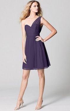 Purple 2016 One Shoulder Tulle A-line Women Cocktail Dresses Short