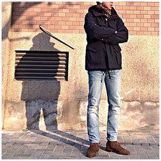 Same jacket different vibe #engineeredgarments #drakeslondon #levis #alden #ootd #wiwt #menwear #men - cazjl