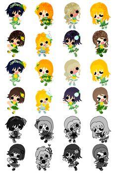 フリーのアイコン素材可愛い女の子のアイコン / Icons of cute girls by atelier-bw  ダウンロードはこちらから  The downloading from this.