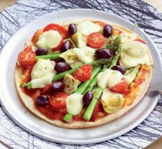 Antipasto pizza - High fibre, low-kJ, vegetarian