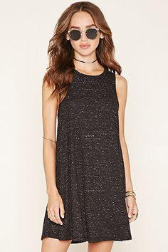 Marled Knit A-Line Mini Dress