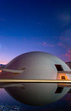 Oscar Niemeyer, Basilia National Museum. #architecture #niemeyer