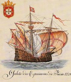 Portuguese spice galleon 1521 …
