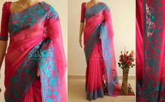 Aari work saree