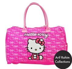 Hello Kitty Bag , Hello Kitty Tote Bag Pink Summer Design Good for Gym Beach and Baby Arif Rahim Collections, $39.85