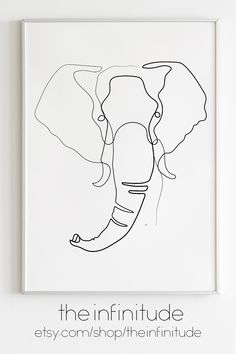 decorate shop Elephant Line Art Print Minimalist One Line Drawing Living Room Wall Decor Make a blank space pop with Line Art Prints. Printable art is an easy and affordable way to deco Minimalist Drawing, Minimalist Art, Illustration Art Drawing, Art Drawings, Drawing Drawing, Line Art, Afrique Art, Elephant Art, Modern Art Prints