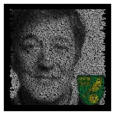 £24.99 Personalised Twitter portrait. Make a poster of your avatar - which is a composition of hundreds of your tweets.