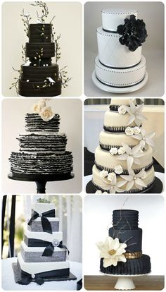 Cake ideas! Black and White Wedding Inspiration - Uniquely Yours Wedding Invitation