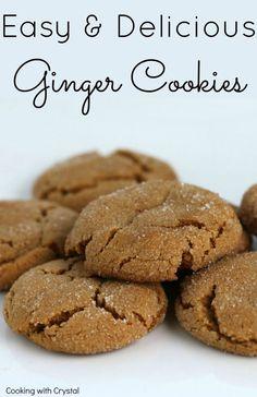 easy ginger cookies recipe
