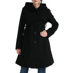 21e17cd59def5 Momo Maternity Women's Wool Blend 'Lauren' Belted Coat with Hood Momo  Maternity. $184.00
